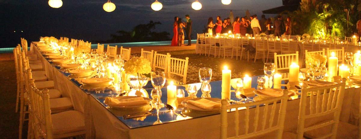 Beautiful Table Setup Wedding Phuket